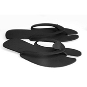 SALON & SPA DISPOSABLE PEDICURE SLIPPERS BLACK (10 PACK)