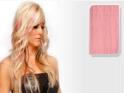 E-CLIPS TAPE HAIR EXTENSIONS #L/PINK 50CM 1 PIECES