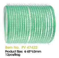 JOZELLE HAIR ROLLER VELCRO ROLLERS 48*63MM PK12 GREEN