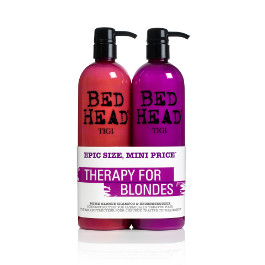 BED HEAD DUMB BLONDE SHAMPOO & RECONSTRUCTOR DUO PACK 750ML