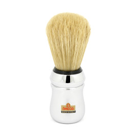 OMEGA SHAVING BRUSH SILVER LONG BRISTLE 100% PURE BRISTLES