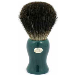 OMEGA SHAVING BRUSH GREEN HANDLE 100% PURE BADGER BRISTLES