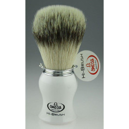 OMEGA SHAVING HI BRUSH WHITE HANDLE