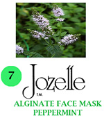 7.JOZELLE ALGINATE FACE MASK 250g /PEPPERMINT-MINIMISES REDNESS