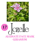 17.JOZELLE ALGINATE FACE MASK 250G /GERANIUM-CONTROLS OIL & DECREASES PORES