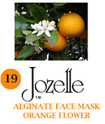 19.JOZELLE ALGINATE FACE MASK 250G /ORANGE FLOWER-GIVES STRENGTH & ELASTICITY TO SENSITIVE SKIN