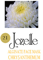 21.JOZELLE ALGINATE FACE MASK IKG /CHRYSANTHEMUM-DIMINISHES INFLAMATION, CLEARS TOXINS