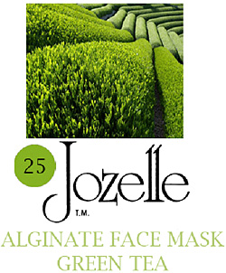 25.JOZELLE ALGINATE FACE MASK 1KG /GREEN TEA-BACTERIOSTASIS, PREVENTS PIGMENTATION