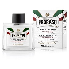 PRORASO AFTERSHAVE BALM WITH GREEN TEA AND OATMEAL 100ML