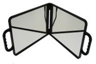 DOUBLE SIDED FOLDING MIRROR - BLACK