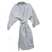 KIMONO WHITE SINGLE SIDED TERRY TOWELLING