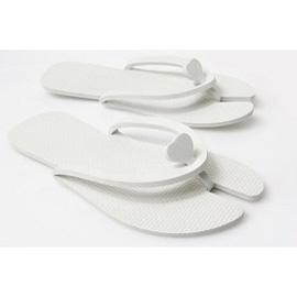 SALON & SPA DISPOSABLE PEDICURE SLIPPERS FOAM WHITE (10 PACK)