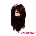 DERRYN MANNEQUIN HEAD - BROWN - MEDIUM HIGHBEARD - CHINESE