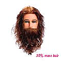 GEORGE MANNEQUIN HEAD - LIGHT BROWN - MEDIUM HIGHBEARD - INDIAN