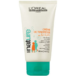 LOREAL | CREME DE TENDRESSE | AU LAIT DE PECHE | LEAVE-IN DETANGLING CONDITIONER FOR CHILDREN | 150ML