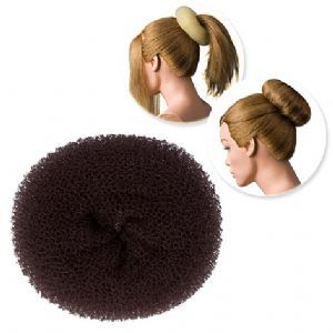 DRESS ME UP | HAIR DONUT - SPONGE, DARK BROWN, MEDIUM, 13G