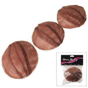 DRESS ME UP | CROWN VOLUMIZER, BROWN, 3 PACK
