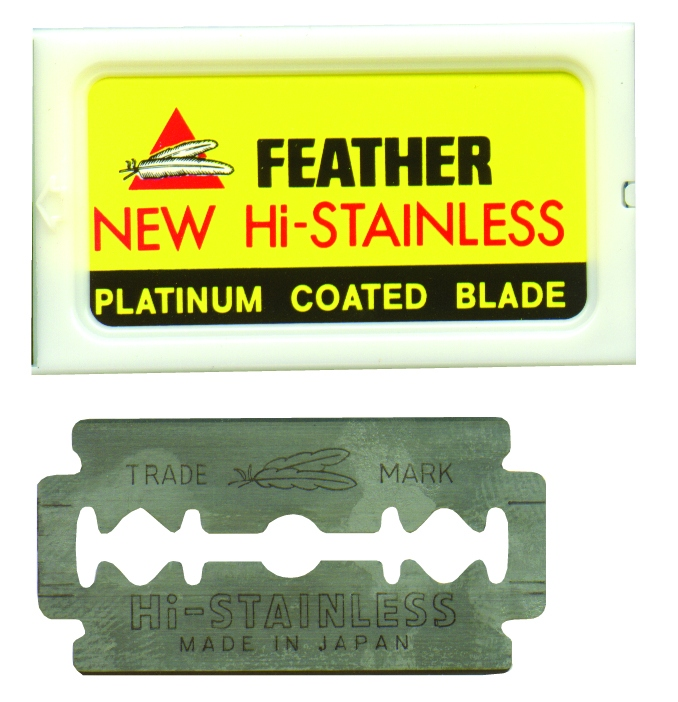 FEATHER BLADES DOUBLE EDGED-PKT5