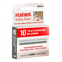 FEATHER BLADES THINNING/TEXTURIZING PACK OF 12 (12 X 10 BLADES)