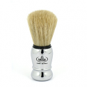 OMEGA SHAVING BRUSH SILVER HANDLE 100% PURE BRISTLES