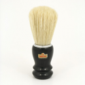 OMEGA SHAVING BRUSH BLACK HANDLE 100% PURE BRISTLES