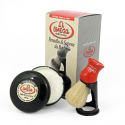 OMEGA SHAVING BRUSH WITH STAND & SOAP 100% PURE BRISTLES