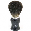OMEGA SHAVING BRUSH CARBON FIBRE HANDLE 100% PURE BRISTLES