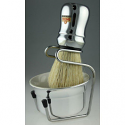 OMEGA SHAVING BRUSH & BOWL SET (CHROME)