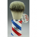 OMEGA SHAVING HI BRUSH BARBER POLE STRIPE
