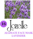 16.JOZELLE ALGINATE FACE MASK 500G /LAVENDER-CALMING, HELPS CELLS REGENERATE