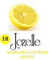 18.JOZELLE ALGINATE FACE MASK 500G /LEMON-SOOTHING, PROMOTES BLOOD CIRCULATION