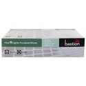 BASTION VINYL POWDER FREE CLEAR MEDIUM GLOVES- PACK OF 100