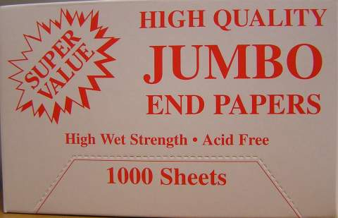 HIGH QUALITY JUMBO END PAPERS