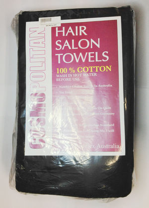 HAIR SALON TOWELS BLACK (10 PACK)