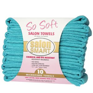 SO SOFT MICROFIBRE SALON TOWELS AQUA (10 PACK)