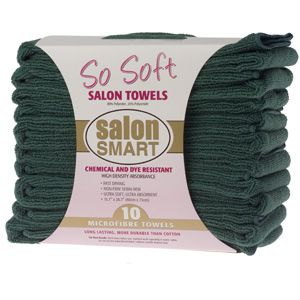 SO SOFT MICROFIBRE SALON TOWELS EVERGREEN (10 PACK)