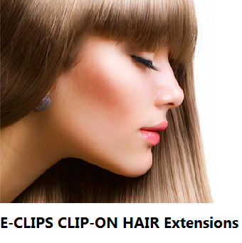 HAIR EXTENSIONS E-CLIPS CLIP-ON